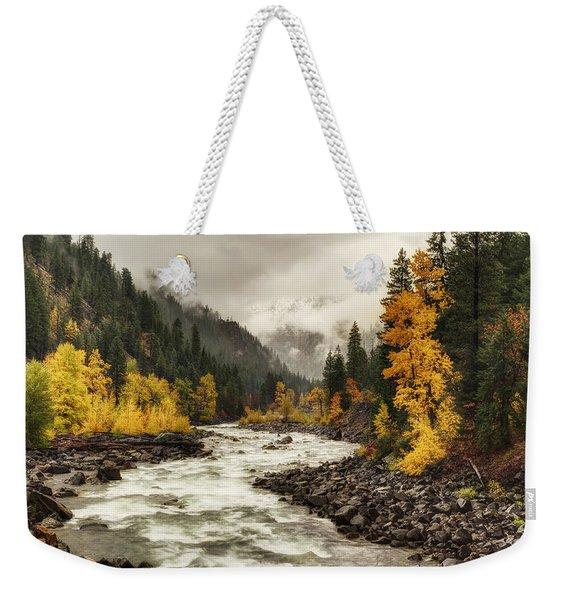 Flowing Through Autumn Weekender Tote Bag