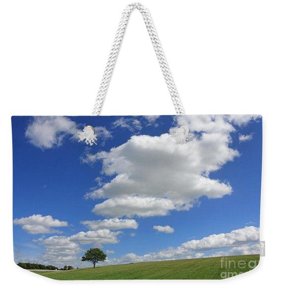 Fluffy Clouds Over Epsom Downs Surrey Weekender Tote Bag