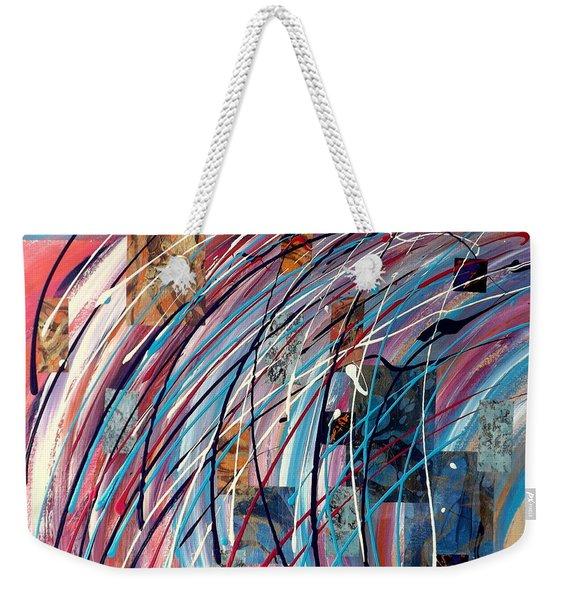 Fluid Motion Weekender Tote Bag