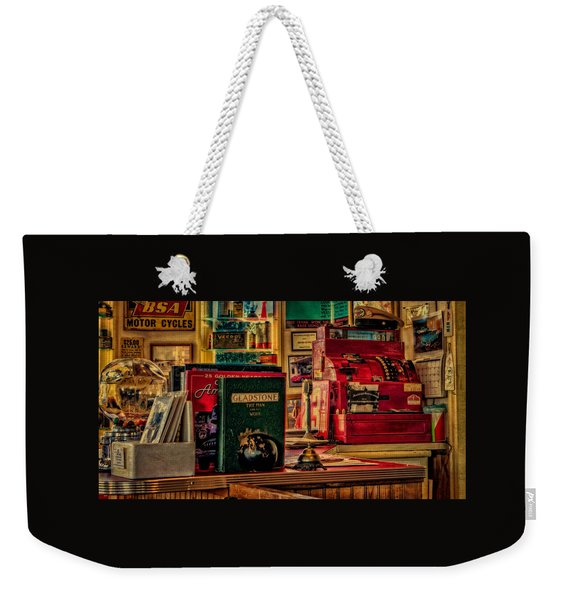 Flying A Service Station Office Weekender Tote Bag