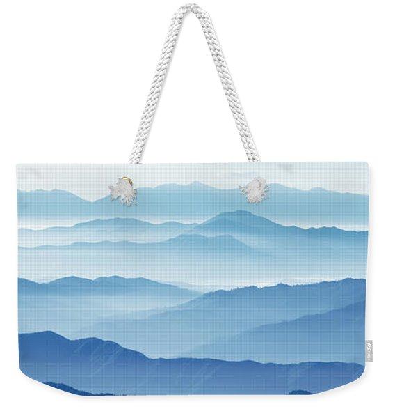 Fog Mountains Nagano Japan Weekender Tote Bag