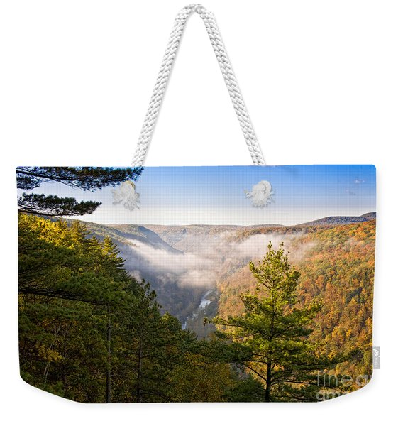 Fog Over The Canyon Weekender Tote Bag