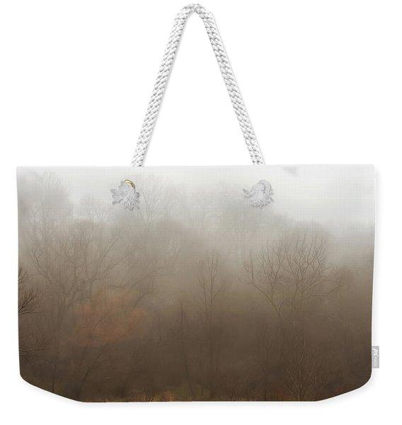 Fog Riverside Park Weekender Tote Bag