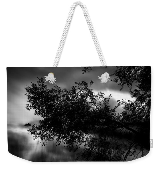 Foggy Autumn Morning On The River Weekender Tote Bag