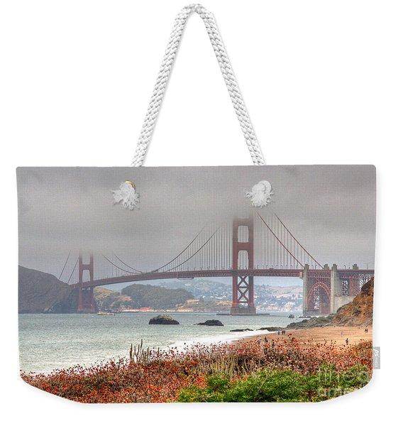 Foggy Bridge Weekender Tote Bag