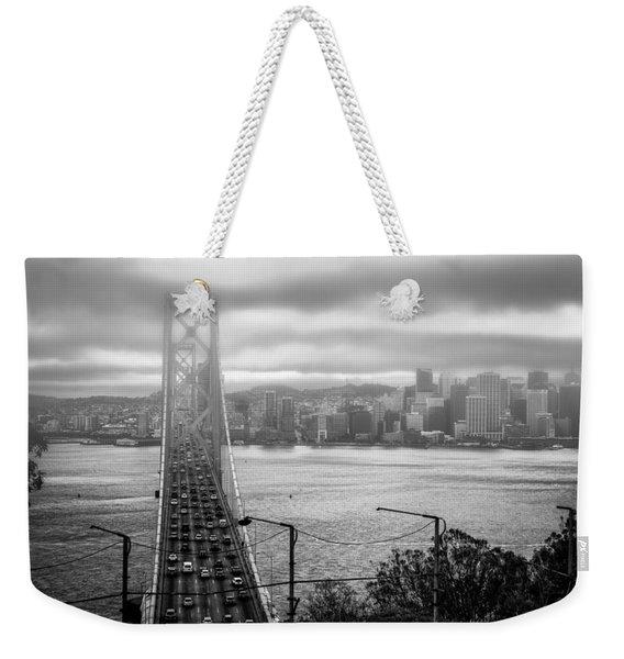 Foggy City Of San Francisco Weekender Tote Bag