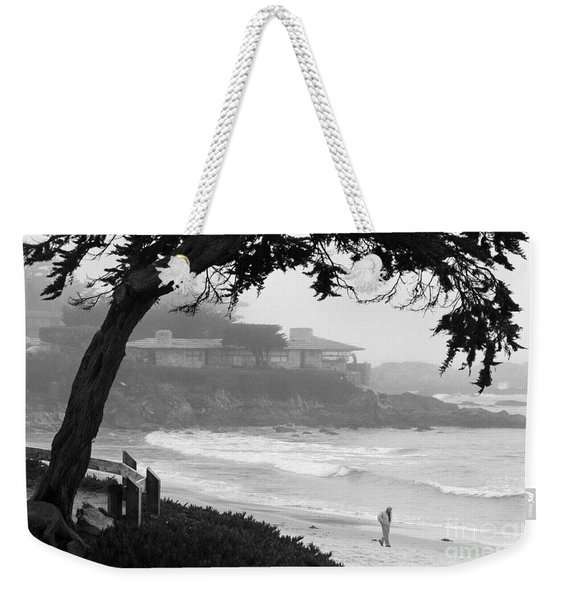 Foggy Day On Carmel Beach Weekender Tote Bag