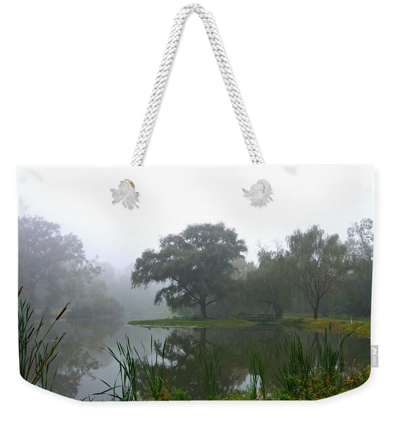 Foggy Morning At The Willows Weekender Tote Bag