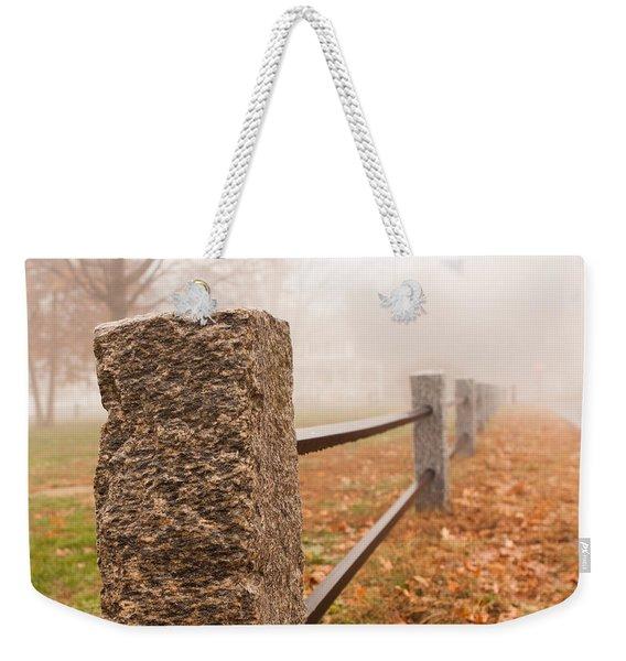 Foggy Morning In Ellington Weekender Tote Bag