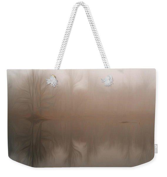 Foggy Reflection Weekender Tote Bag