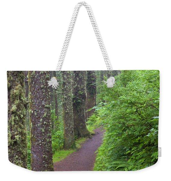 Foggy Trail Weekender Tote Bag