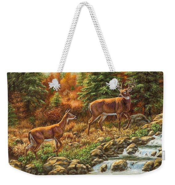 Whitetail Deer - Follow Me Weekender Tote Bag