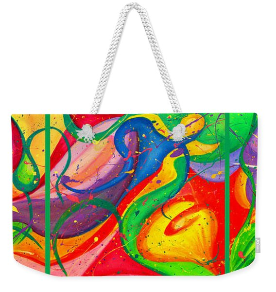 Follow Me Triptych Weekender Tote Bag