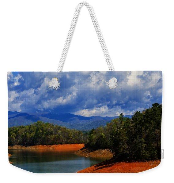 Fontana Lake Storm Weekender Tote Bag
