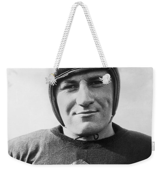 Football Player Portrait Weekender Tote Bag