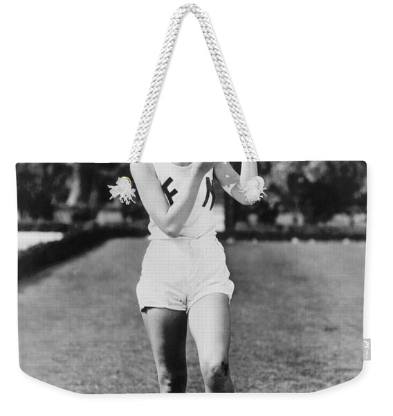 Football Time Out For Makeup Weekender Tote Bag
