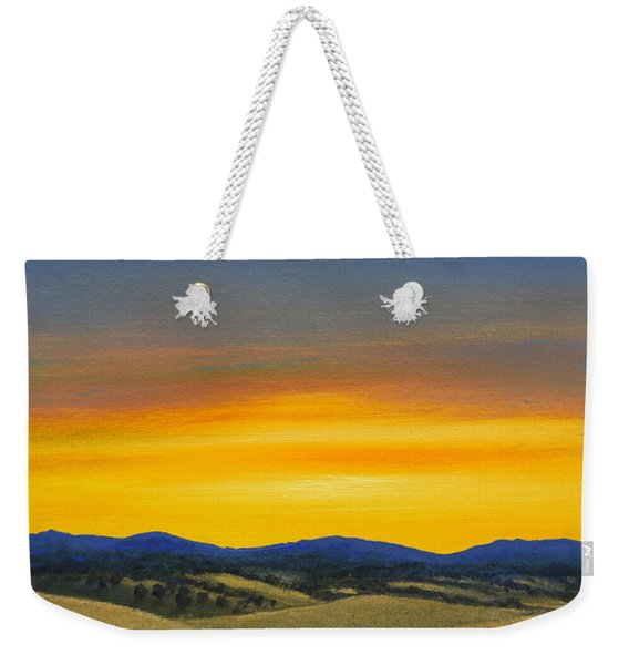 Foothills Sunrise Weekender Tote Bag