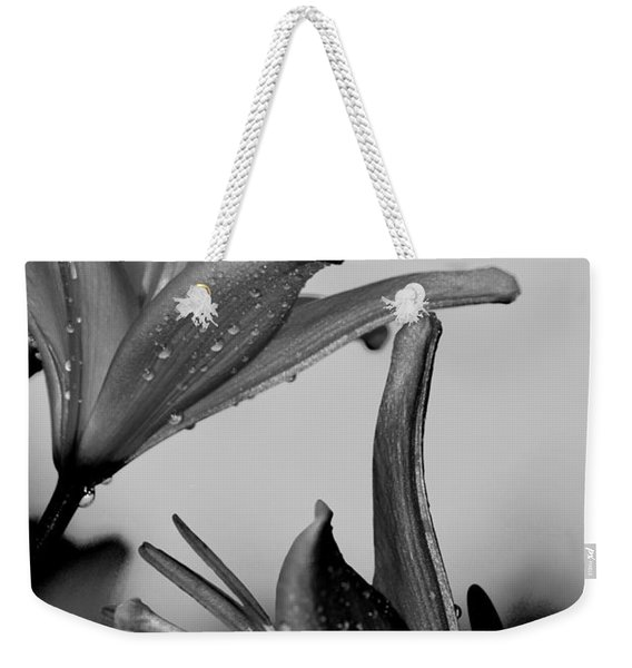 For The Love Of Lillies Bw Weekender Tote Bag