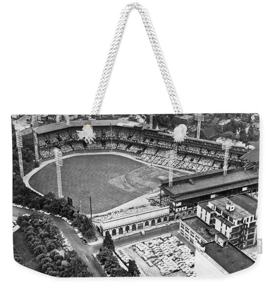 Forbes Field In Pittsburgh Weekender Tote Bag