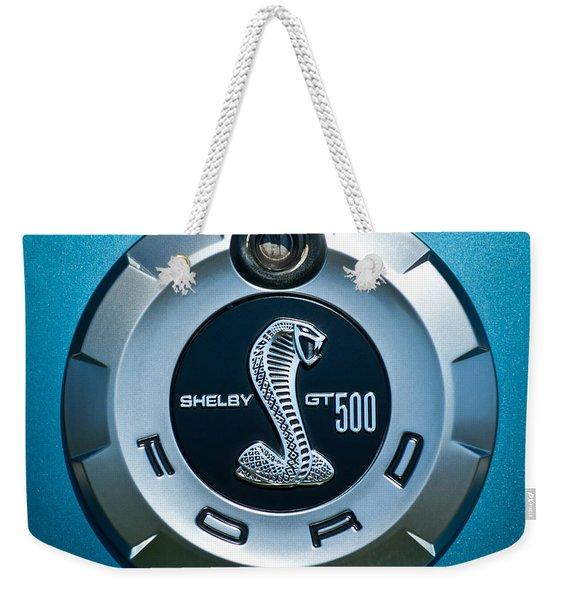 Ford Shelby Gt 500 Cobra Emblem Weekender Tote Bag