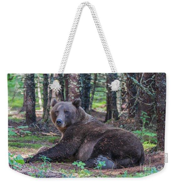 Forest Bear Weekender Tote Bag