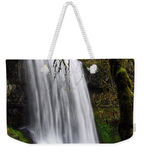 Forest Falls - Waterfall In The Silver Falls State Park In Oregon Weekender Tote Bag