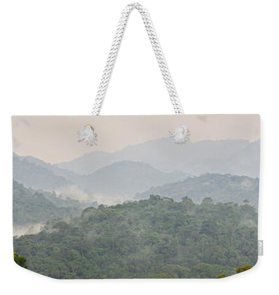 Forest With Mountain Range, Bwindi Weekender Tote Bag