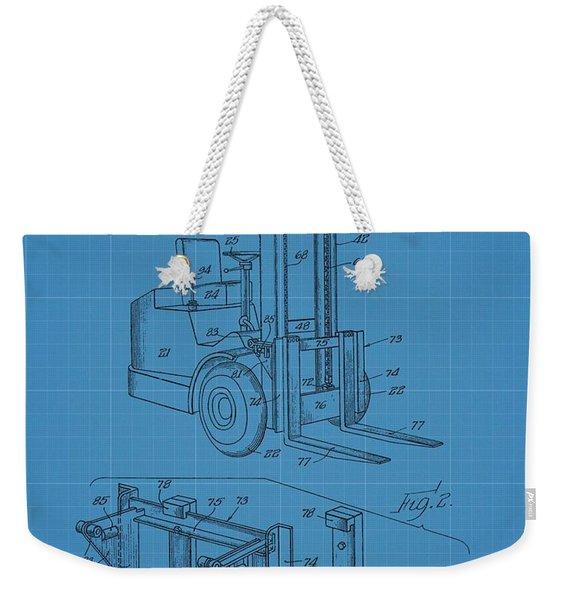 Forklift Blueprint Patent Weekender Tote Bag