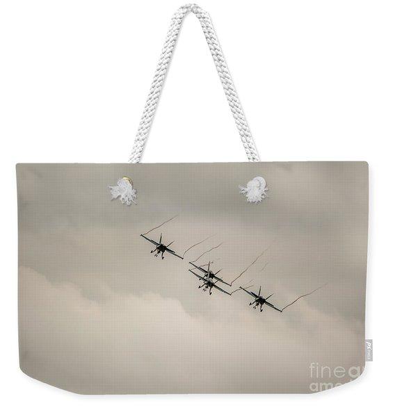 Formation Flying Weekender Tote Bag