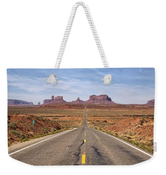 Forrest Gump Monument Valley View Weekender Tote Bag