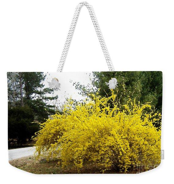 Forsythia Weekender Tote Bag