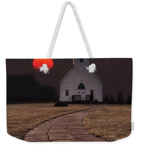 Fort Belmont Sunset Weekender Tote Bag