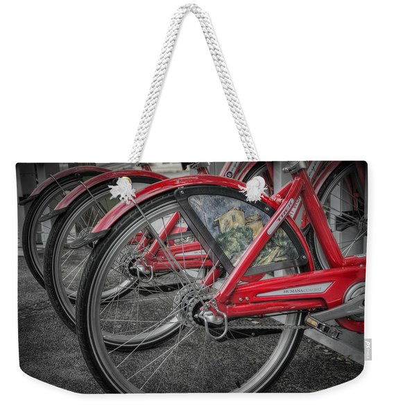 Fort Worth Bikes Weekender Tote Bag