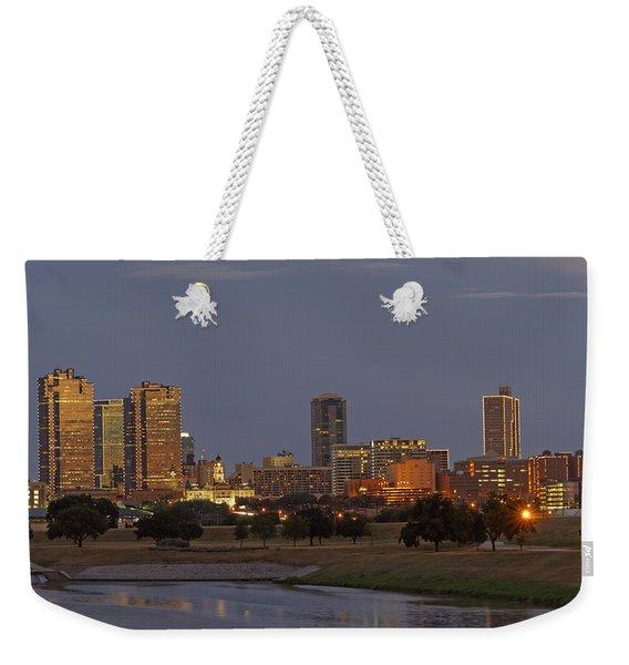 Fort Worth Skyline Golden Hour Weekender Tote Bag