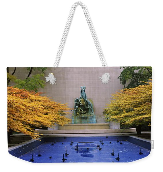Fountain In A Garden, Fountain Of The Weekender Tote Bag