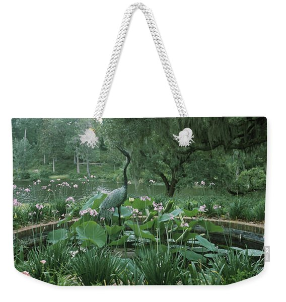 Fountain In A Garden, Middleton Place Weekender Tote Bag