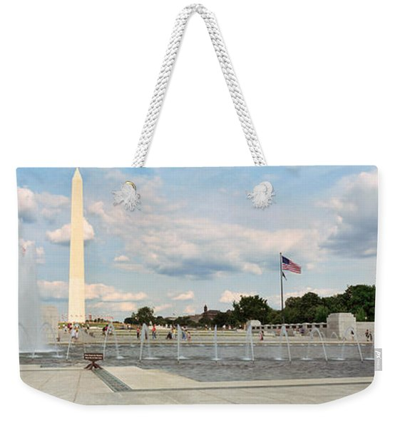 Fountains At A Memorial, National World Weekender Tote Bag