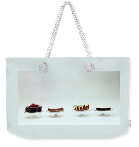 Four Cakes Side By Side Weekender Tote Bag