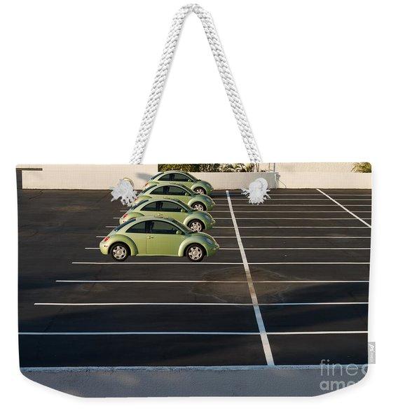 Four Green Beetles Weekender Tote Bag