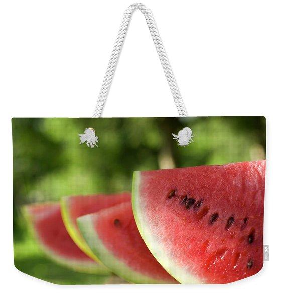 Four Slices Of Watermelon Weekender Tote Bag