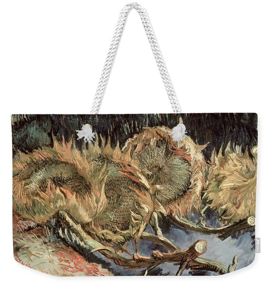 Four Withered Sunflowers Weekender Tote Bag