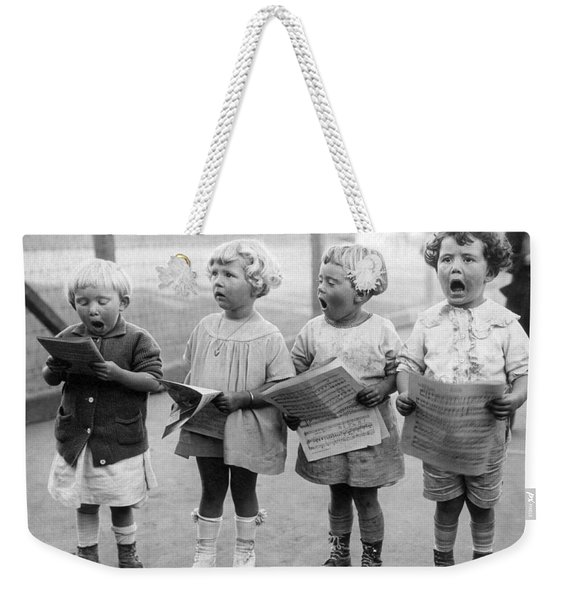 Four Young Children Singing Weekender Tote Bag