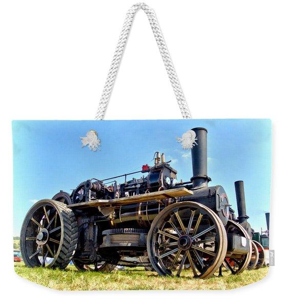 Fowler Ploughing Engine Weekender Tote Bag