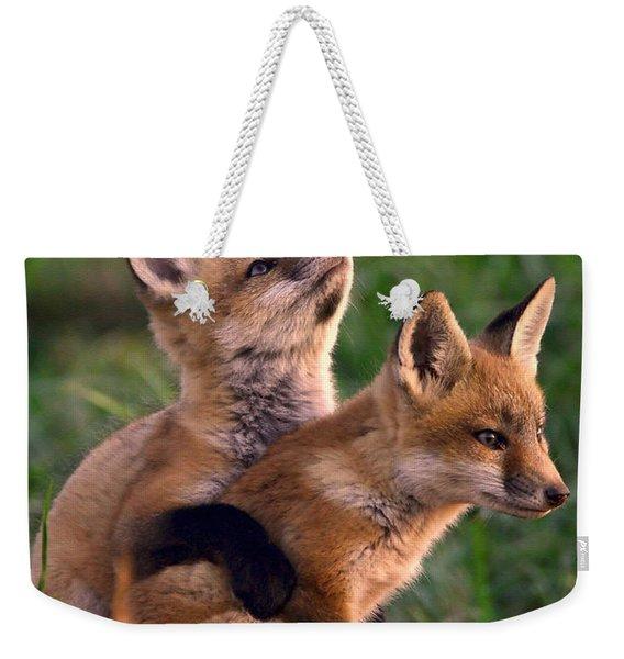 Fox Cub Buddies Weekender Tote Bag