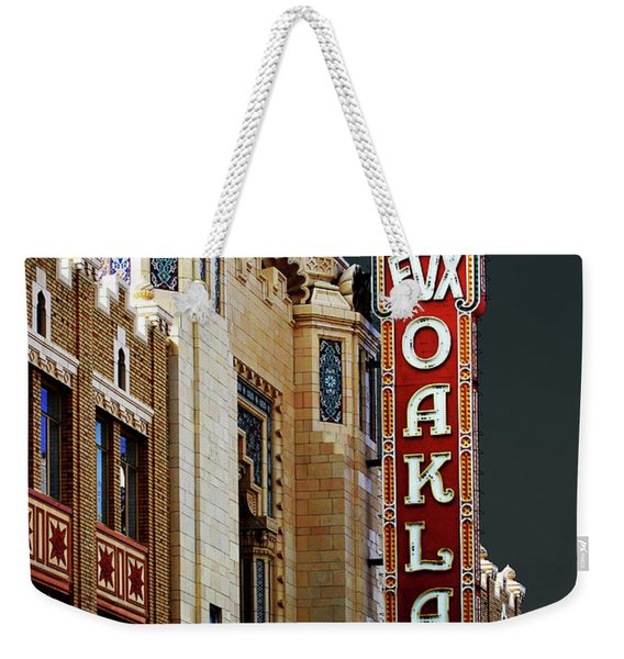 Fox Theater . Oakland California Weekender Tote Bag