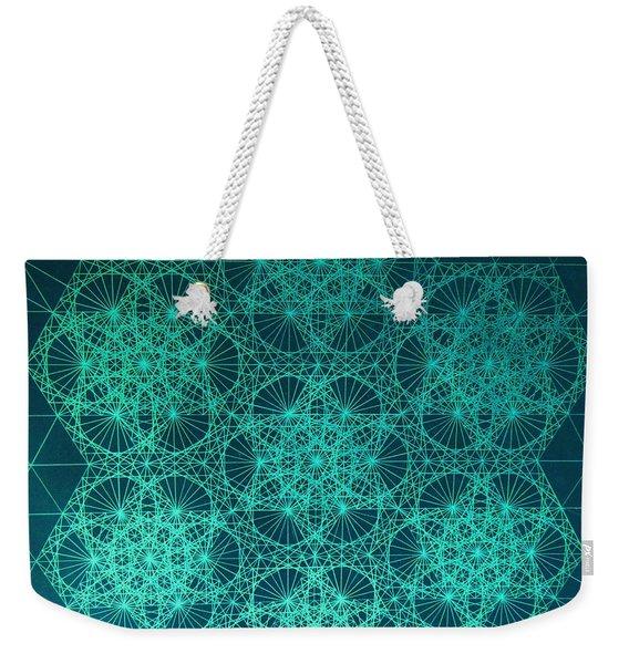 Fractal Interference Weekender Tote Bag