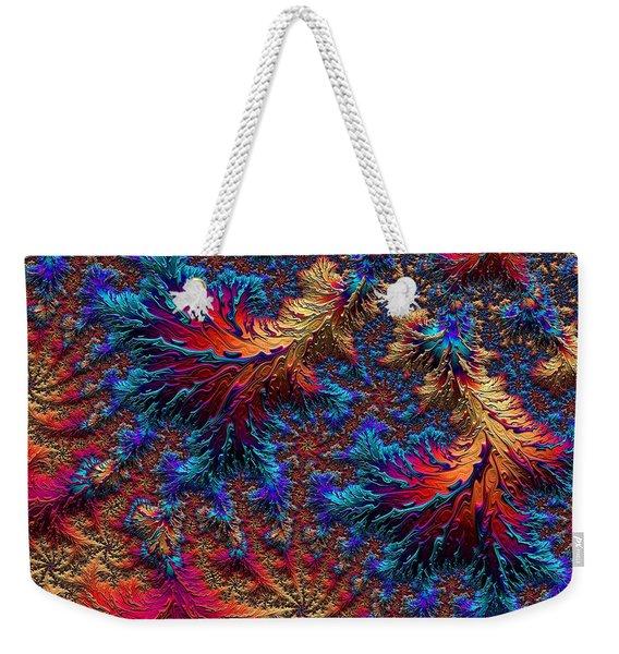 Fractal Jewels Series - Beauty On Fire II Weekender Tote Bag
