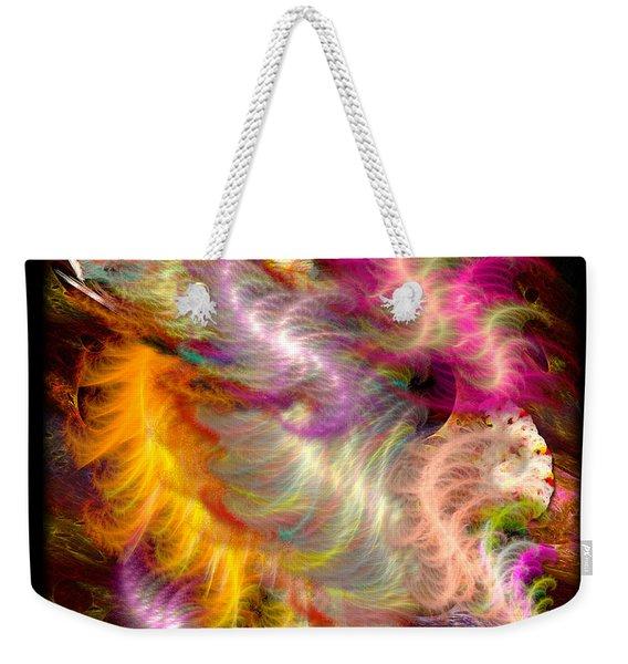 Fractal Silk Weekender Tote Bag