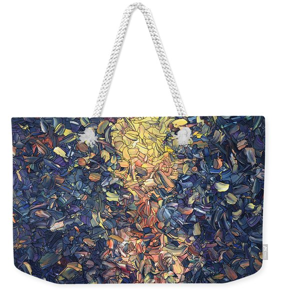 Fragmented Flame - Square Weekender Tote Bag