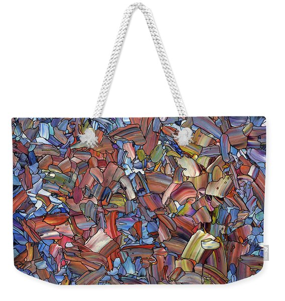 Fragmented Rose Weekender Tote Bag